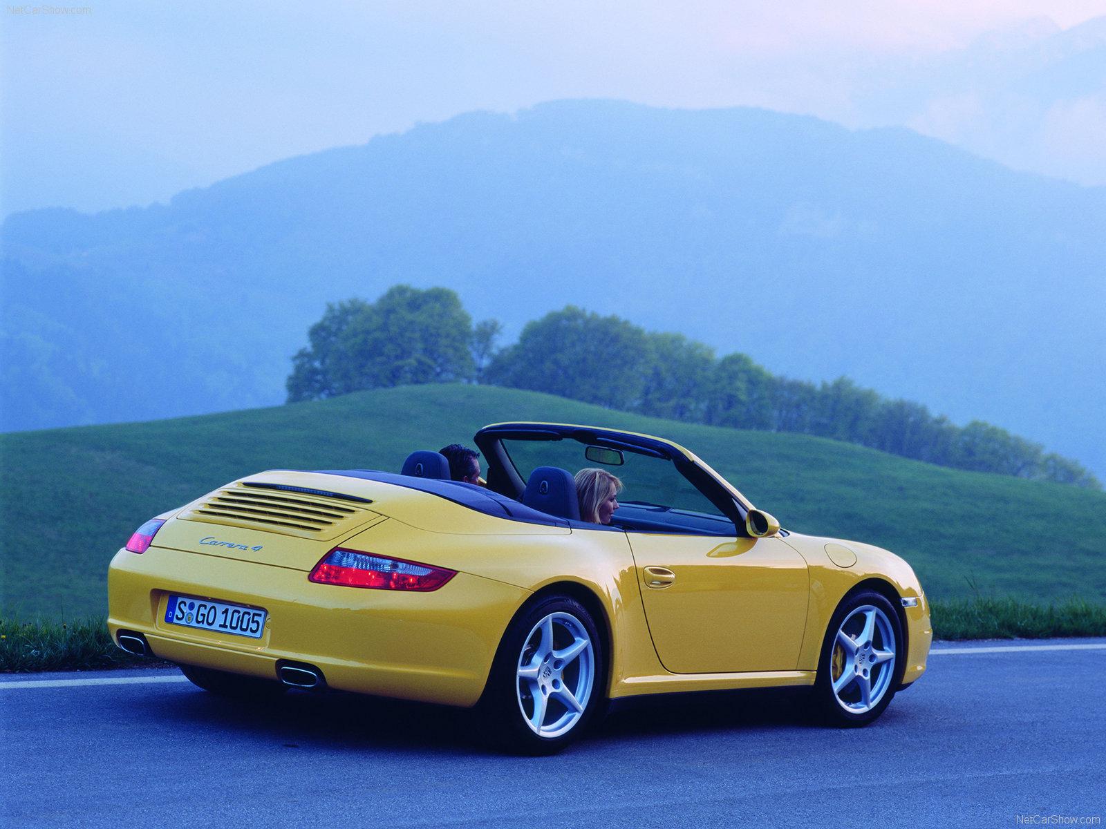 2006 yellow porsche 911 carrera 4 cabriolet wallpapers. Black Bedroom Furniture Sets. Home Design Ideas