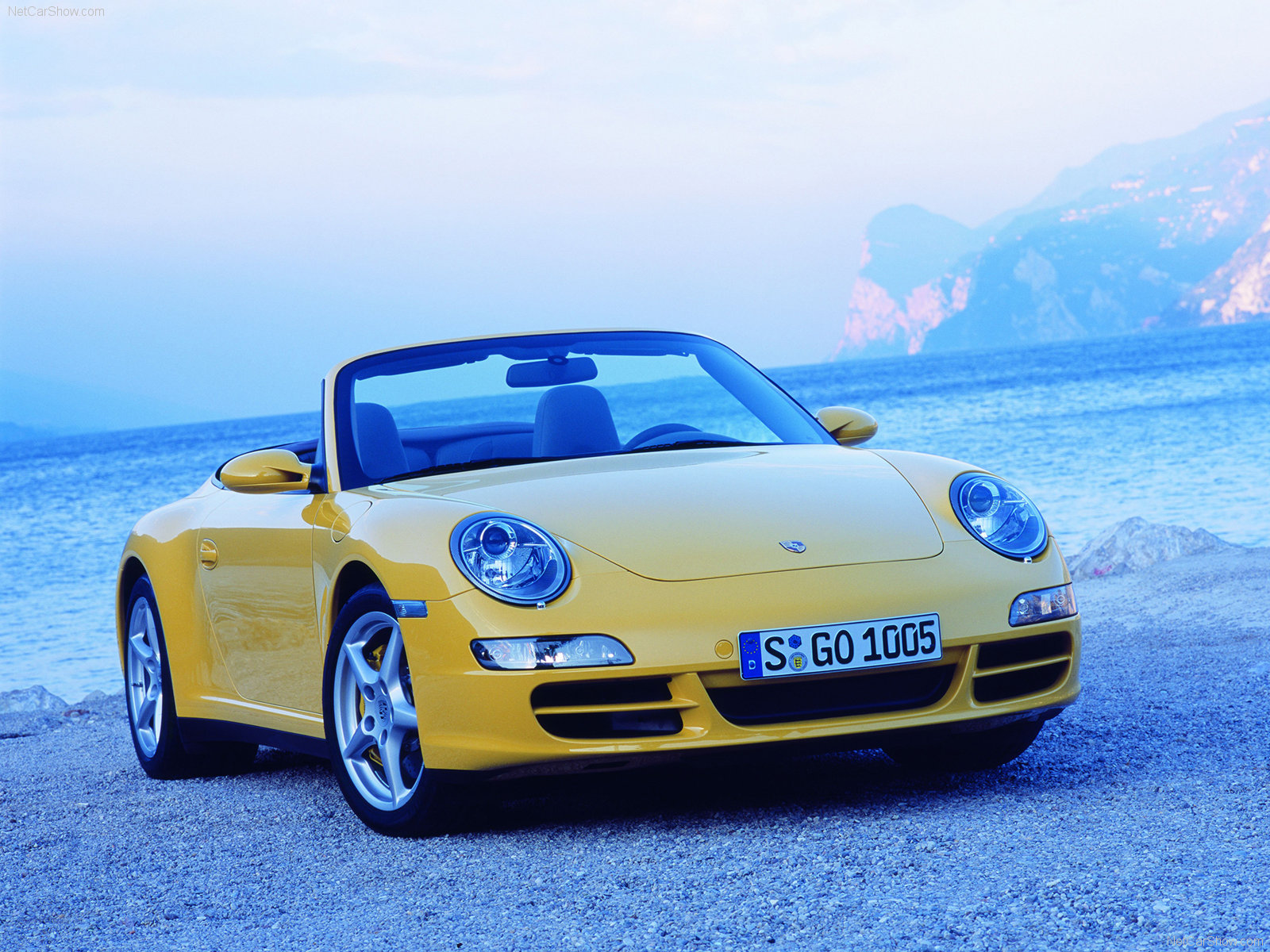 2006 Yellow Porsche 911 Carrera 4 Cabriolet wallpapers