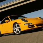 2006 Yellow Porsche 911 Carrera Coupe Wallpaper Front angle side view