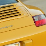 2006 Yellow Porsche 911 Carrera Coupe Wallpaper Rear view