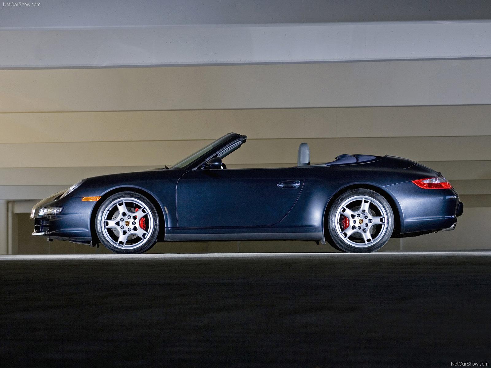 911 Carrera Gts >> 2007 Black Porsche 911 Carrera 4S Cabriolet wallpapers