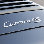 2007 Black Porsche 911 Carrera 4S Cabriolet Wallpaper Rear view Sign