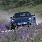 2007 Blue Porsche 911 Turbo Wallpaper Front view