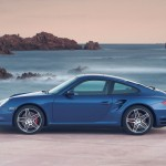 2007 Blue Porsche 911 Turbo Wallpaper Side view