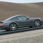 2007 Grey Porsche 911 Turbo Wallpaper Side view