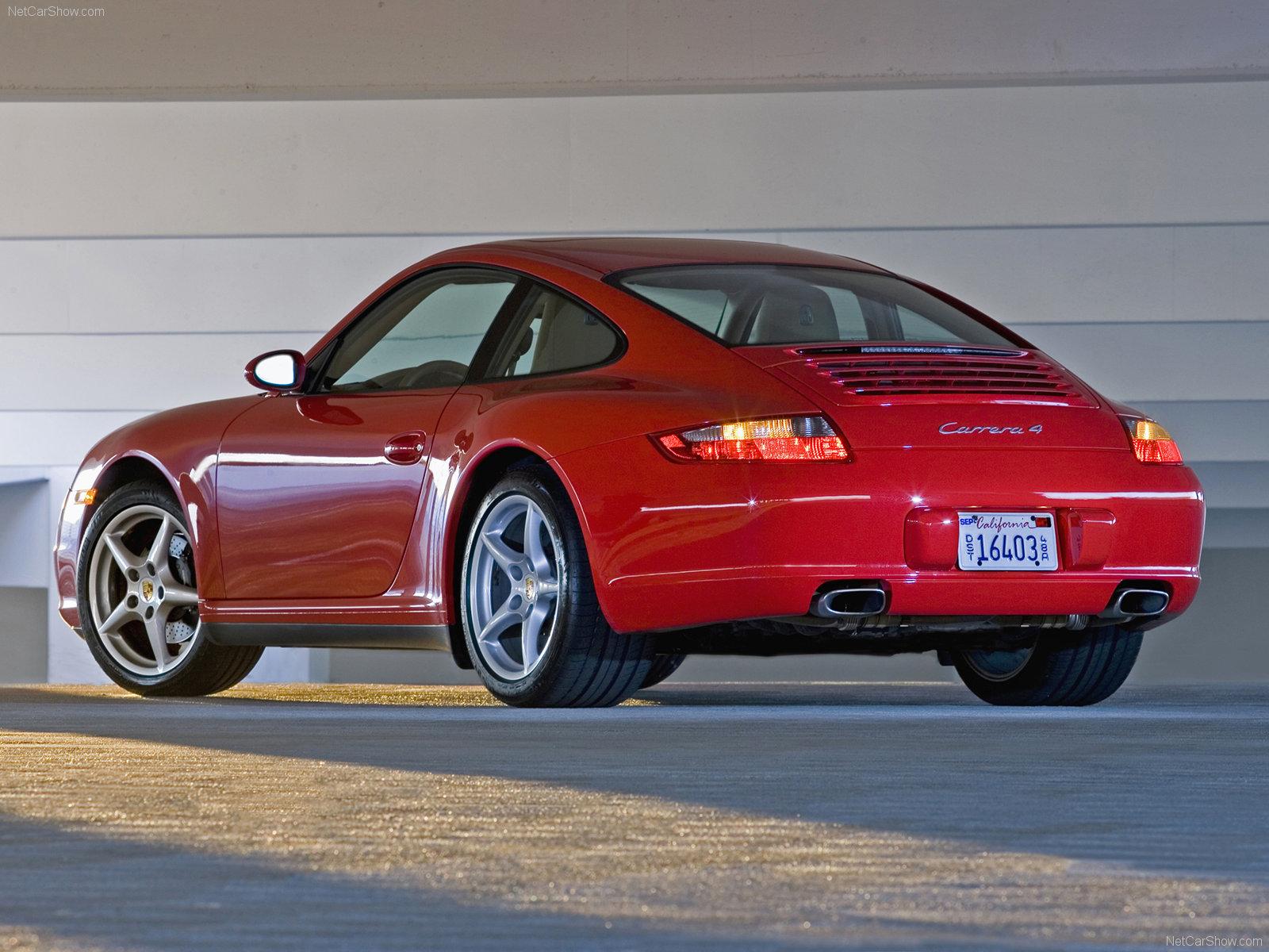 Porsche 911 Gts For Sale >> 2007 Red Porsche 911 Carrera 4 wallpapers