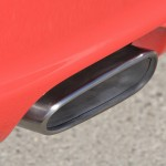 2007 Red Porsche 911 Carrera 4 Wallpaper Rear view Exhaust