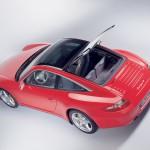 2007 Red Porsche 911 Targa 4 Wallpaper Rear angle side view