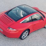 2007 Red Porsche 911 Targa 4 Wallpaper Rear angle side top view