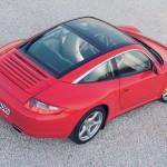 2007 Red Porsche 911 Targa 4 Wallpaper Rear angle side top view