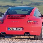 2007 Red Porsche 911 Targa 4 Wallpaper Rear view