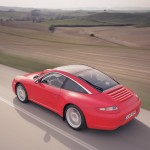 2007 Red Porsche 911 Targa 4 Wallpaper Rear angle side view