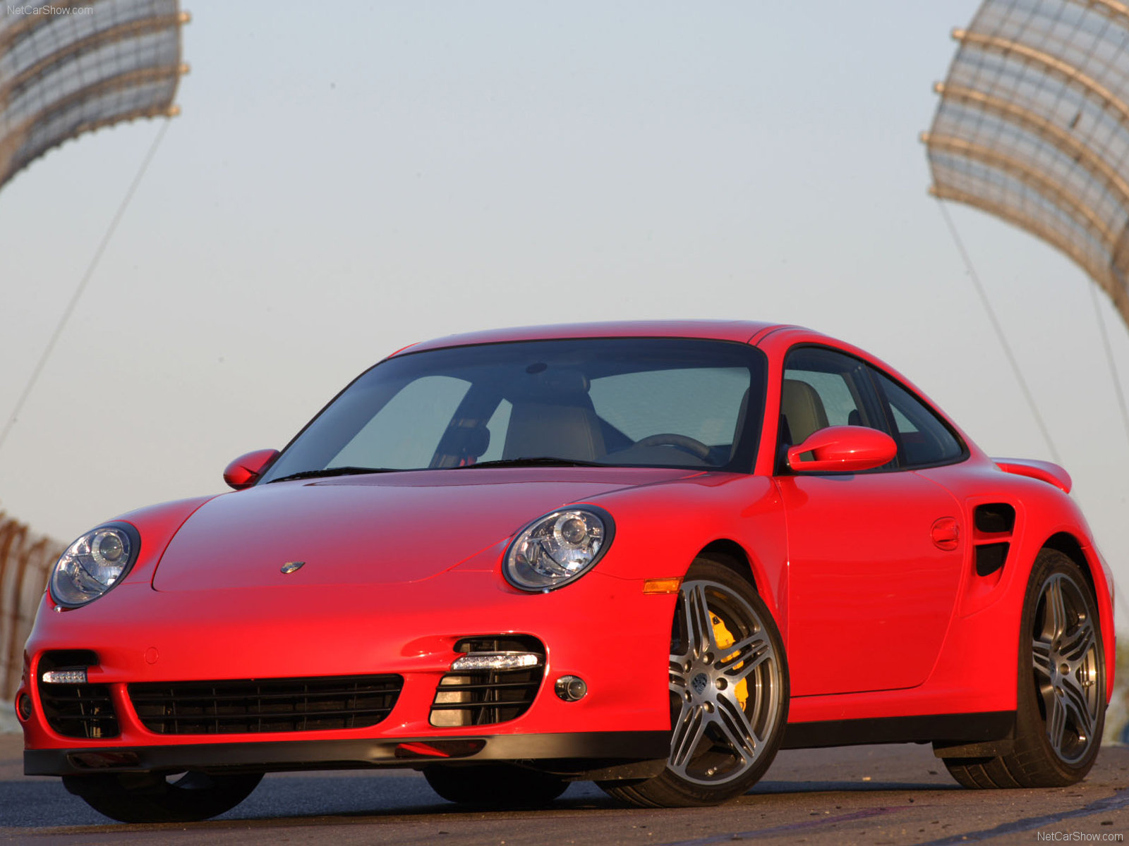 2007 Red Porsche 911 Turbo Wallpapers
