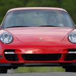 2007 Red Porsche 911 Turbo Wallpaper Front view