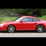 2007 Red Porsche 911 Turbo Wallpaper Side view