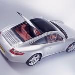2007 Silver Porsche 911 Targa 4S Wallpaper Rear angle side top view