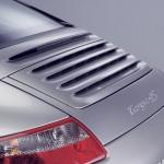 2007 Silver Porsche 911 Targa 4S Wallpaper Rear angle view