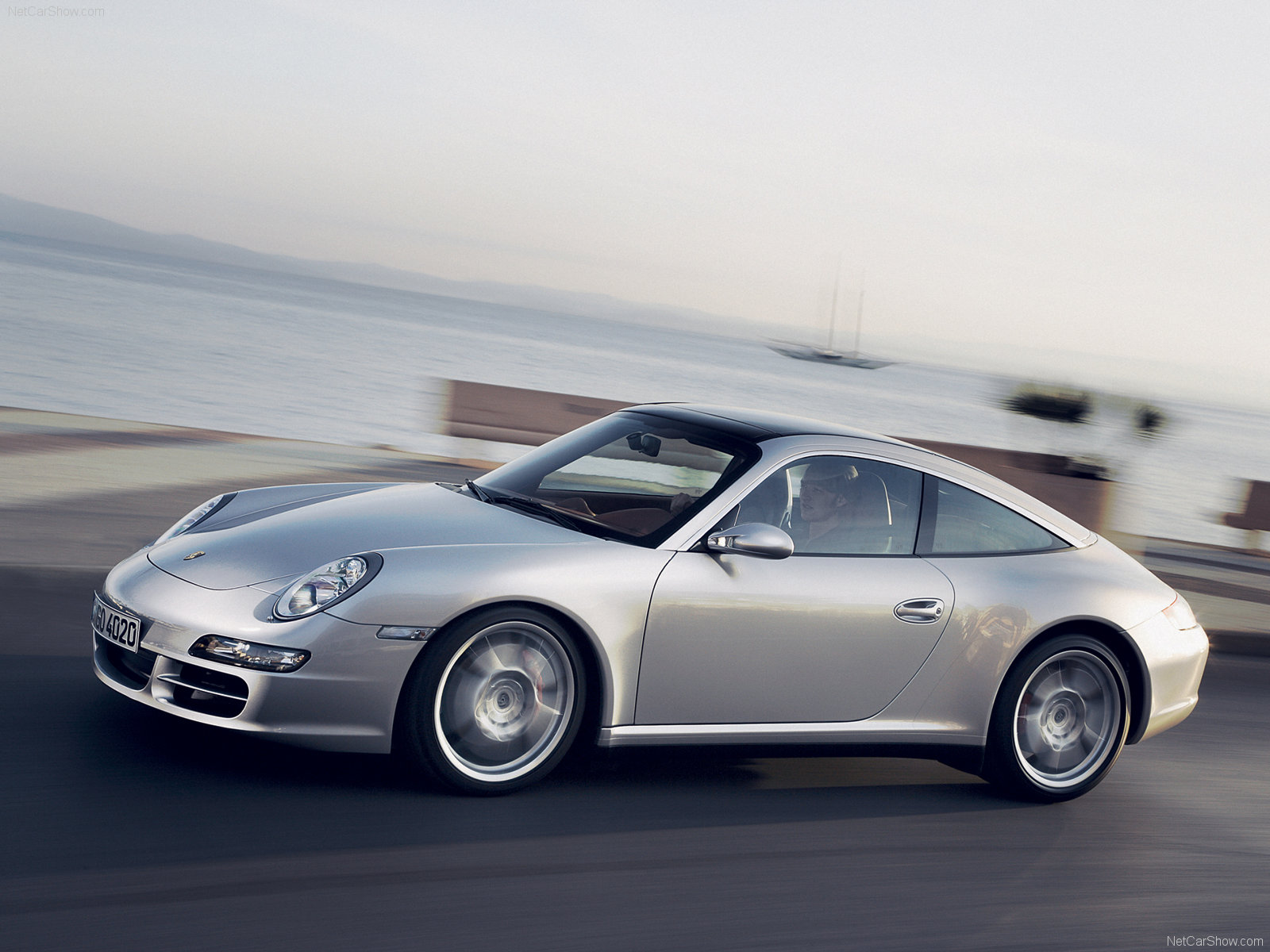 2007 Silver Porsche 911 Targa 4s Wallpapers