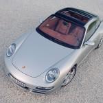 2007 Silver Porsche 911 Targa 4S Wallpaper Front angle Top view