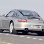 2007 Silver Porsche 911 Targa 4S Wallpaper Rear angle side view