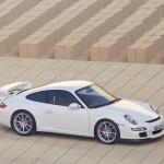 2007 White Porsche 911 GT3 Wallpaper Side angle view