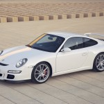 2007 White Porsche 911 GT3 Wallpaper Front angle side view