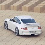 2007 White Porsche 911 GT3 Wallpaper Rear angle top view
