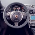 2007 White Porsche 911 GT3 Wallpaper Interior Steering wheel