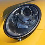 2007 Yellow Porsche 911 Turbo Wallpaper Front view Head light