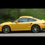2007 Yellow Porsche 911 Turbo Wallpaper Side view
