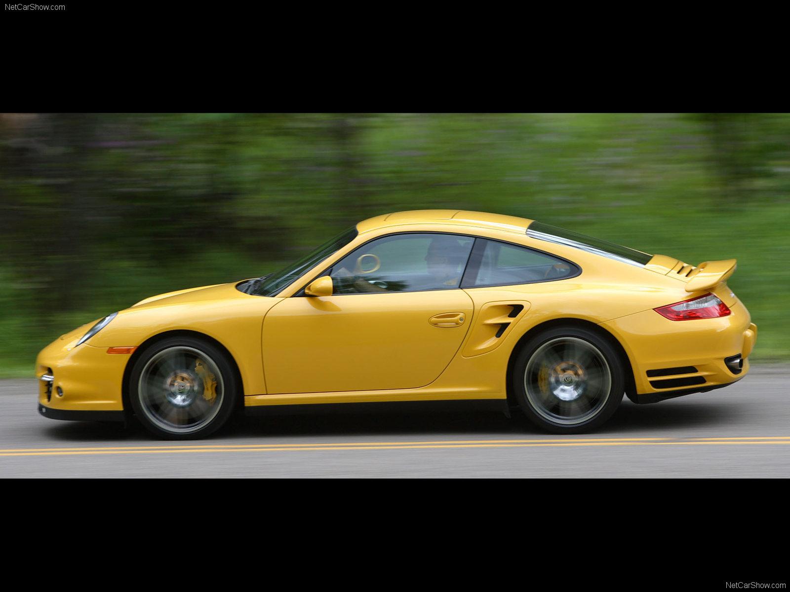 2007 Yellow Porsche 911 Turbo Wallpapers