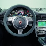 2008 Silver Porsche 911 GT2 Wallpaper Interior Steering Wheel