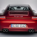 2009 Red Porsche 911 Targa 4 Wallpaper Rear view