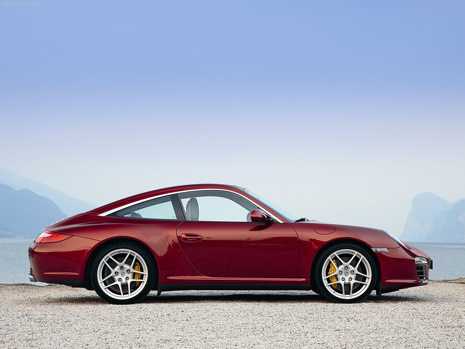 2009 Red Porsche 911 Targa 4 Wallpapers