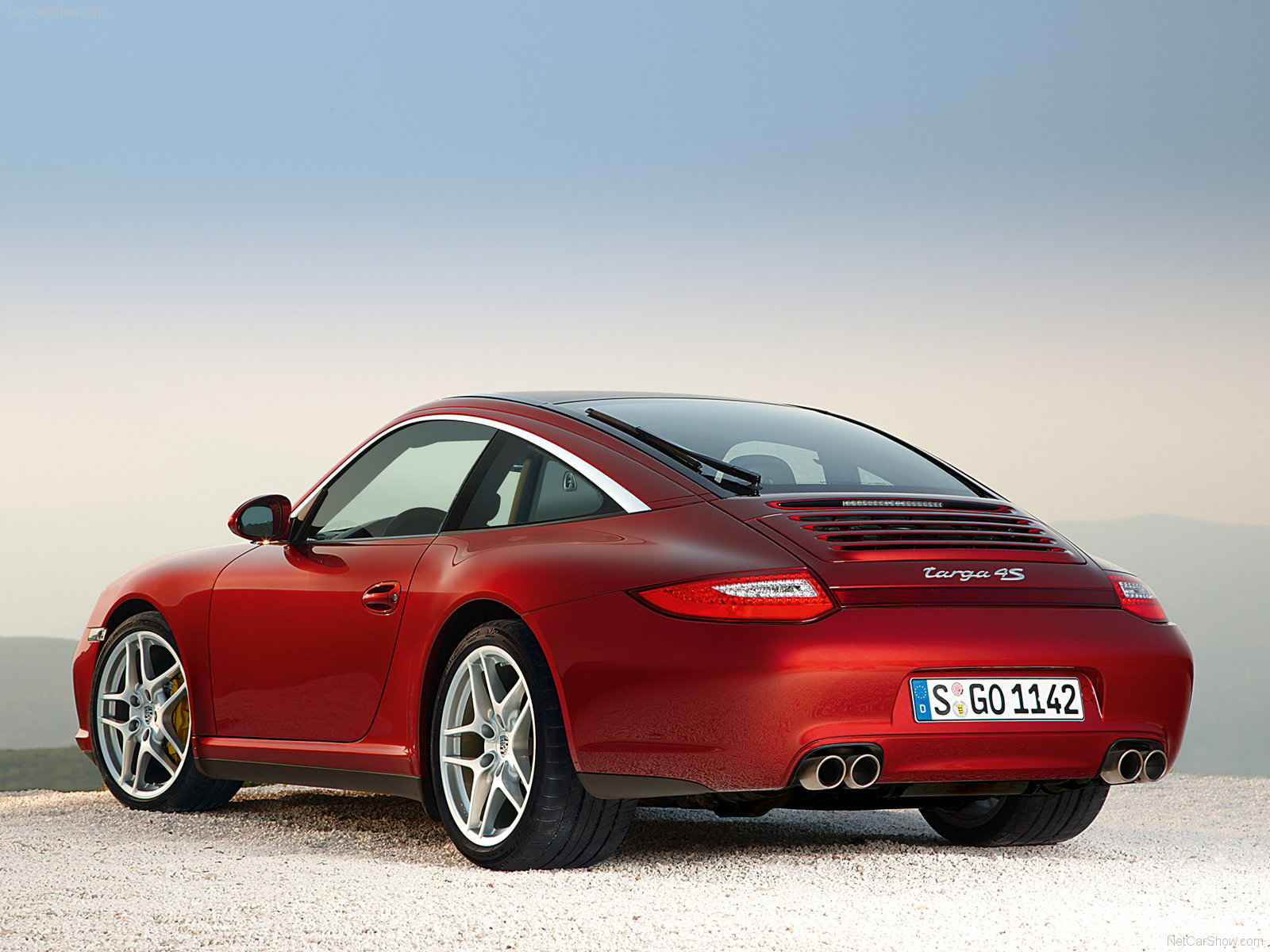 2009 Red Porsche 911 Targa 4 Wallpapers