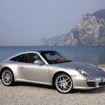 2009 Silver Porsche 911 Targa 4 Wallpaper Front angle side view