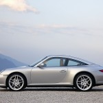 2009 Silver Porsche 911 Targa 4 Wallpaper Side view