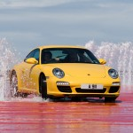 2009 Yellow Porsche 911 Carrera Wallpaper Front angle view