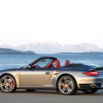 2010 Grey Porsche 911 Turbo Cabriolet Wallpaper Side view
