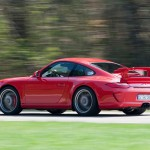 2010 Red Porsche 911 GT3 Wallpaper Side angle view