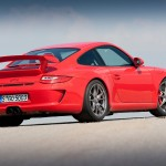 2010 Red Porsche 911 GT3 Wallpaper Rear angle side view