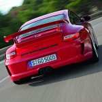 2010 Red Porsche 911 GT3 Wallpaper Rear view