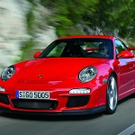 2010 Red Porsche 911 GT3 Wallpaper Front angle view