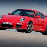 2010 Red Porsche 911 GT3 Wallpaper Front angle side view