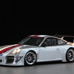 2010 White Porsche 911 GT3 R Wallpaper Front angle side view