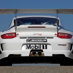 2010 White Porsche 911 GT3 R Wallpaper Rear view