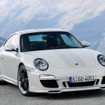 2010 White Porsche 911 Sport Classic Wallpaper Front angle view
