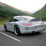 2010 White Porsche 911 Sport Classic Wallpaper Rear angle side view