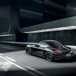 2012 Porsche Cayman S Black Edition Rear angle side view