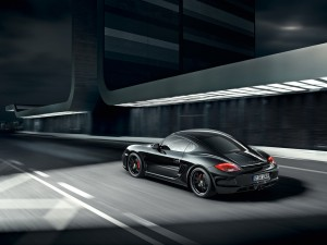 2012 Porsche Cayman S Black Edition Rear angle side view